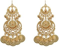 ShopStyle: R.J.GRAZIANO Gold Two-Tier Coin Ball Drop Earrings