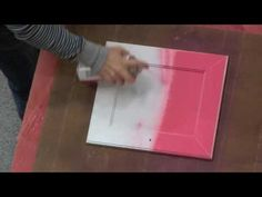 Spray-painting furniture tutorial. I'm painting a large coffee table for the new place, I just have to pick a color.