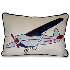 @Overstock - Bring style to your bedroom decor with this fun rectangular throw pillow from the Throw Vintage Airplane Collection. An airplane applique highlights this lovely decorative pillow.http://www.overstock.com/Home-Garden/Airplane-Applique-Decorative-Pillow/5973728/product.html?CID=214117 CAD              36.95