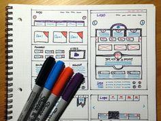 Wireframe Sketches - www.eewee.fr
