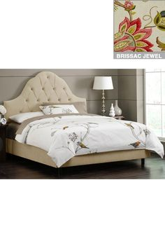 Tufted Arch Upholstered Bed - Beds - Bedroom - Furniture | HomeDecorators.com