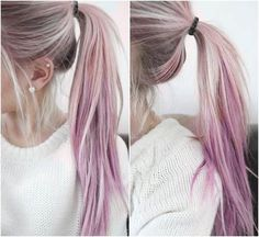 Everyone is rocking pastel hair looks these days and one of the most popular colours seems to be pink. Ombré Hair, Hair Ponytail, Girl Hair, Funky Hairstyles, Scene Hairstyles, Hair Today, Hair Looks, Hair Trends, Dyed Hair