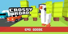 I won the emo goose (created by amazingphil) in Crossy Road!