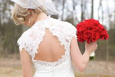 A Vintage Red and Black Wedding