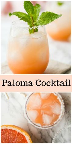 This Paloma Cocktail recipe is a refreshing cocktail choice for a summer party. A blend of grapefruit juice, tequila and club soda, it's an easy drink to prepare, and it's always a popular choice. Grapefruit Vodka Cocktails, Tequila Drinks, Refreshing Cocktails, Summer Cocktails, Yummy Drinks, Cocktail Tequila, Mexican Cocktails, Grapefruit Recipes, Gastronomia