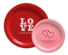 Personalized Paper Plates for Valentine's Day