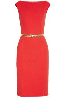 Belted stretch-crepe dress by Michael Kors
