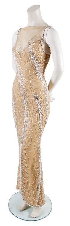 A Bob Mackie Nude Pearl and Bead Gown,   1980s