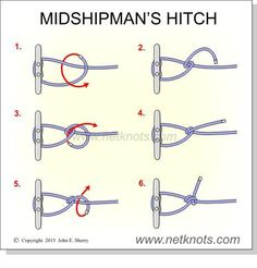 ADJUSTABLE (best): Midshipman's Hitch