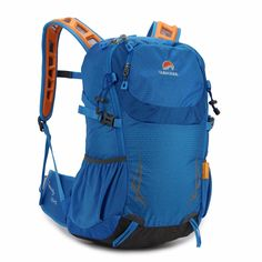 1e7d0cc296c2 Men Women s Outdoor Waterproof Sport 35L Travel Backpack Casual Hiking  Camping Nylon External Frame Bag with