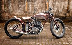 Honda GL200 fully customized by Daritz Design in Java, Indonesia
