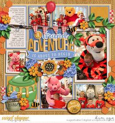 Digital Scrapbook Layout using believeinmagic: Honey Bear collection by Amber Shaw and Studio Flergs; and Trio Pack 35 - Honey Bear templates by Cindy Schneider (found at Sweet Shoppe Designs)