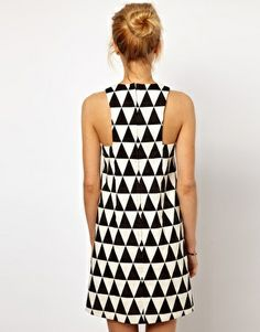 Image 2 of ASOS Shift Dress In Triangle Jacquard