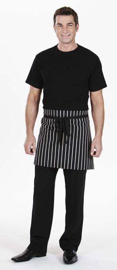 Short Apron, Black Stripe