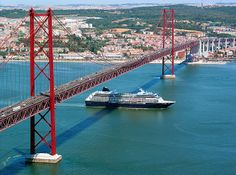 Lisbon - View over several city landmarks