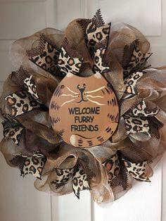Welcome Furry Friends...Cat Deco Mesh von ADoorableCreations05