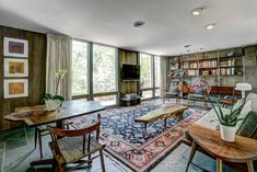 My old house. Designed by my father, Jack C. Cohen FAIA 1961. 7000 Crail Drive, Bethesda, MD 20814. Note the George Nakashima sofa, coffee and side tables and chairs in the family room.