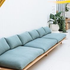 DREAMER COUCH - LINEN This is the couch we've always dreamed of. A signature bentwood curve gives lightness and easy lines to this soft and comfortable couch. Made from recycled or Sofa Design, Interior Design, Diy Sofa, Pop And Scott, Moderne Couch, Home Furniture, Furniture Design, Furniture Market, Furniture Movers