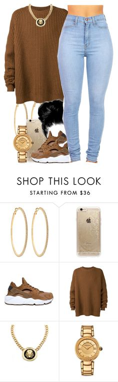 """""""December 12, 2k15"""" by xo-beauty ❤ liked on Polyvore featuring Roberta Chiarella, Rifle Paper Co, NIKE, Haider Ackermann, Roial and Versace"""