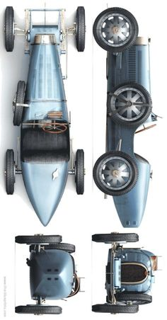 Blueprints > Cars > Bugatti > Bugatti Type 35 B Pedal Cars, Race Cars, Sport Cars, Bugatti Cars, Vintage Race Car, Kit Cars, Retro Cars, Chevrolet Corvette, Amazing Cars