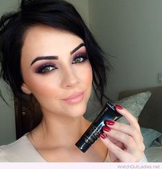 Amazing make-up inspiration for wedding, I love her nails too