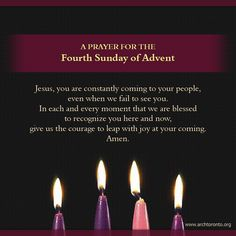 3Rd Advent Candle Prayer