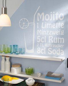 """Wandtattoo """"Mojito"""" von K&L Wall Art"""