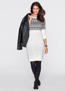 Formal Dress, bpc bonprix collection, white / black patterned