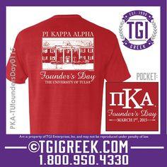TGI Greek - Pi Kappa Alpha - Founder's Day - Greek T-shirt #tgigreek #pikappaalpha #foundersday