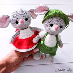 Amigurumi Doll Pattern, Crochet Amigurumi Free Patterns, Easy Crochet Patterns, Doll Patterns, Crochet Mouse, Cute Crochet, Crochet Dolls, Hobby Foto, Tsumtsum