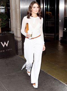 Olivia Culpo Masters Monochrome Dressing via @WhoWhatWearUK