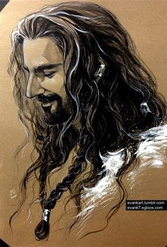 Thorin Oakenshield (Richard Armitage) - The Hobbit Tolkien, Hobbit Art, O Hobbit, Thorin Oakenshield, Bilbo Baggins, Art Beat, Midle Earth, Bagginshield, Elfa