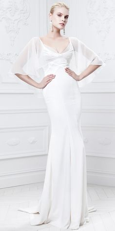 6157a13fb59 Truly Zac Posen Fall 2014 Bridal Collection - Truly Zac Posen from  InStyle  Wedding Dressses