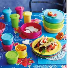 Tupperware - Everyday Bowls, Snack Cups & Bell Tumblers. Used every day in our house