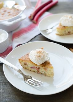 Rhubarb Cake | www.kitchenconfidante.com | Rhubarb is the star of this homey cake that is guaranteed to become a family favorite.
