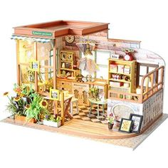 Shop Wenjuan Wooden DIY Dollhouse Miniature w at Artsy Sister. Wooden Dolls House Furniture, Dollhouse Furniture, Home Furniture, Kitchen Furniture, Dollhouse Kits, Wooden Dollhouse, Dollhouse Miniatures, Romantic Kitchen, Art Simple