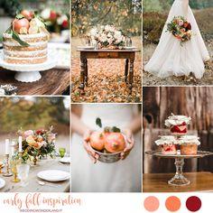 early fall wedding inspiration | matrimonio di inizio autunno in arancione, pesca e marsala