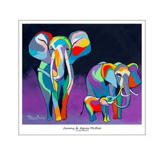 """Jimmy & Agnes McZoo"" Original Artwork by Steven Brown Steven Brown Art, Stephen Brown, Original Artwork, Original Paintings, India Art, Elephant Art, Limited Edition Prints, Art Google, Collage Art"