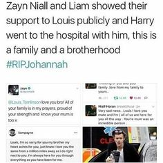 R.I.P. @mrsjohannahdeakin mom of great children and a grand star @louist91 ! . I LOVE ONE DIRECTION FOREVER . THIS IS 1D FAMILY, IT'S LITTLE AND BROKEN BUT STILL I LOVE THIS FAMILY . #RIPJohannah #staystronglouis