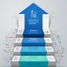 Business Arrow Step Staircase Infographics Template #design Download: http://graphicriver.net/item/business-arrow-step-staircase-infographics/9259507?ref=ksioks