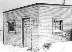 the first Harley Davidson Factory; est. in 1902