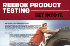 Become a Reebok Product Tester and Get Free Running Shoes & More