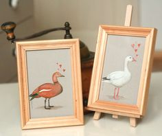 Picture with brown duck in lovevalentine gifthome by SkadiaArt
