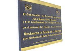 Placa de la estela Ruta de la Independencia. Atotonilco. Diocesis de Celaya. www.diocesisdecelaya.org.mx