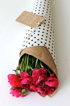 pretty flowers & polka dots.