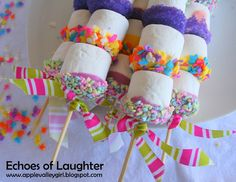 Marshmallow Kabobs for Easter...