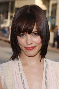 blunt bangs round face - Google Search