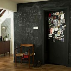 chalkboard wall #kitchen #wall #chalkboard