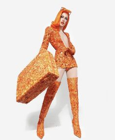Discover recipes, home ideas, style inspiration and other ideas to try. Drag Queen Costumes, Drag Queen Outfits, Drag Me To Hell, Rupaul Drag Queen, Races Outfit, Orange Aesthetic, Celebrity Dads, Fashion Sketches, Fashion Art
