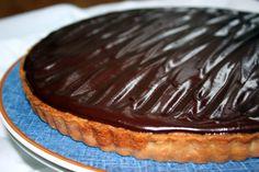 Caramel Pecan Chocolate Tart with Almond Cream Layer and Bittersweet Chocolate Ganache  Volume III - Chocolate Pies & Tarts | urbnspice.com